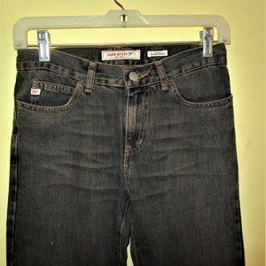 """MISS SIXTY """"SUPERTOMMY"""" FADED BLK FLARE LEG JEANS"""